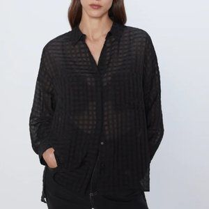 Zara | Organza Check Shirt